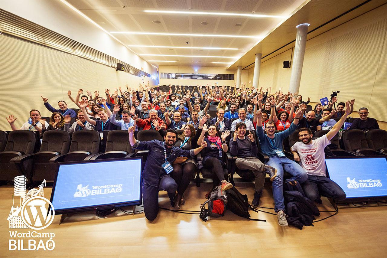 Foto grupal de la WordCamp Bilbao 2017