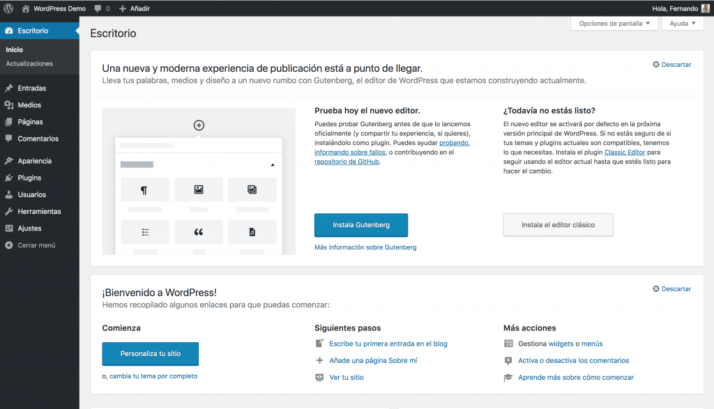Español « 4.9 — WordPress