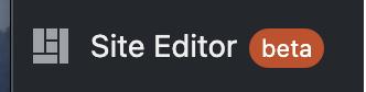 Nueva opción Site Editor en el menú de opciones de WordPress.